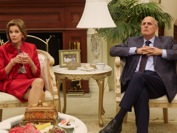 "Jessica Walter and Jeffrey Tambor in scene from new episodes of ""Arrested Development"""
