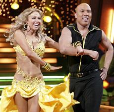 Hines Ward and partner Kym Johnson dance their way to victory