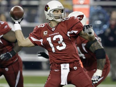 Kurt Warner twice denied the Eagles a chance of going to the Super Bowl. (AP Photo/Ross D. Franklin)