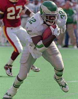 Ricky Watters and LeSean McCoy both attended Bishop McDevitt HS in Harrisburg. (George Wildman / AP Photo)