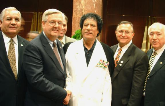 Weldon and Gadhafi in 2004
