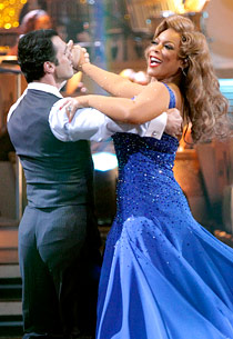 Wendy Williams sashays with partner Tony Dovolani. Until the music stopped.