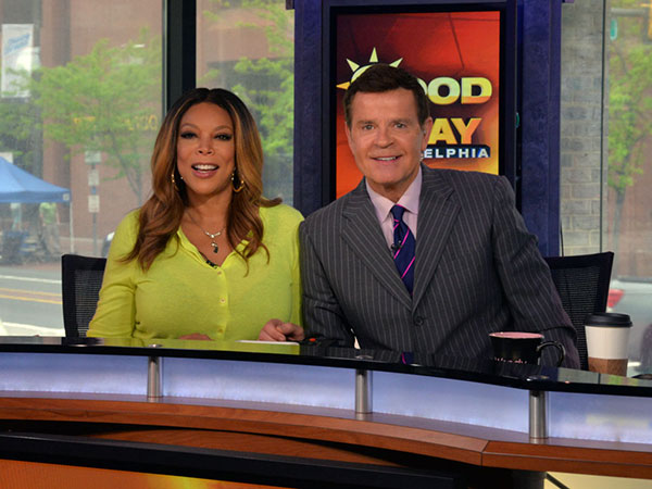 Wendy Williams and Mike Jerrick co-host Good Day Philadelphia on FOX 29 Friday, May 9, 2014. (HughE Dillon/Philly.com)