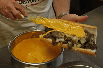 Whiz on a cheesesteak: Hit or myth? - philly-archives