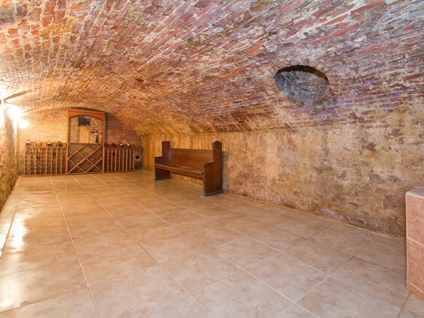 Joel Schmitt created a wine cellar in the basement, which was previously used as a coal room.