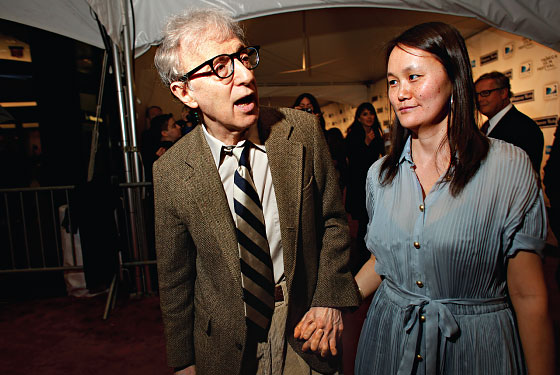 "Woody Allen and wife, Soon-Yi, at the New York premiere of ""Whatever Works."""