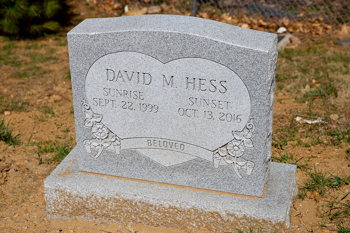 The gravestone of David Hess at Merion Memorial Park