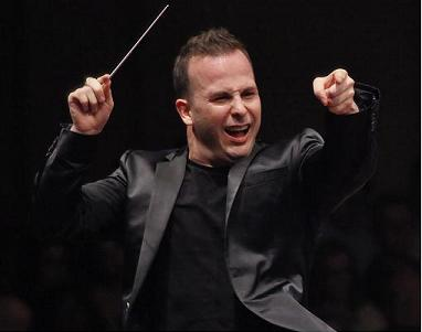 Conductor Yannick Nézet-Séguin Wednesday night in Avery Fisher Hall. Photo: Richard Termine.