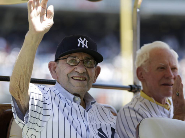 New York Yankees legend Yogi Berra (left) is selling his Montclair, NJ home for $888,000.