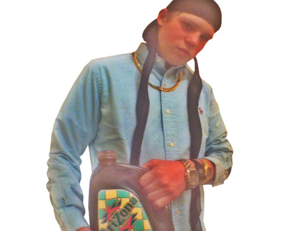 Yung Lean photographed with his favorite drink.