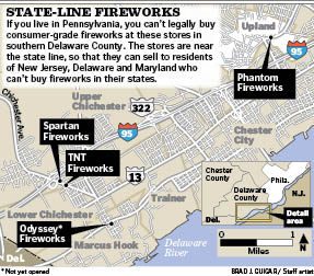 Fireworks map