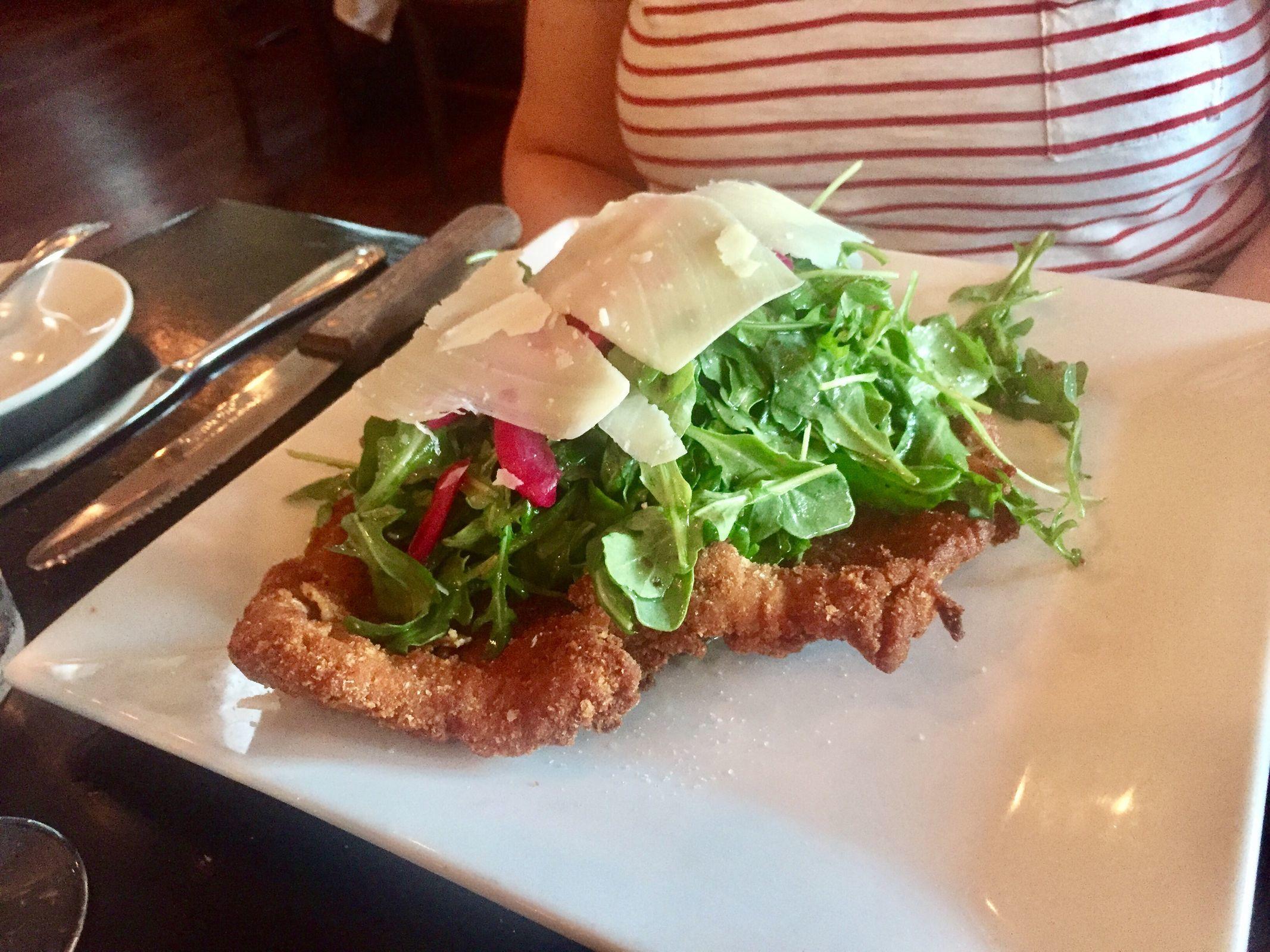 Pork chop Milanese from L'Angolo West. (CRAIG LABAN / Staff)