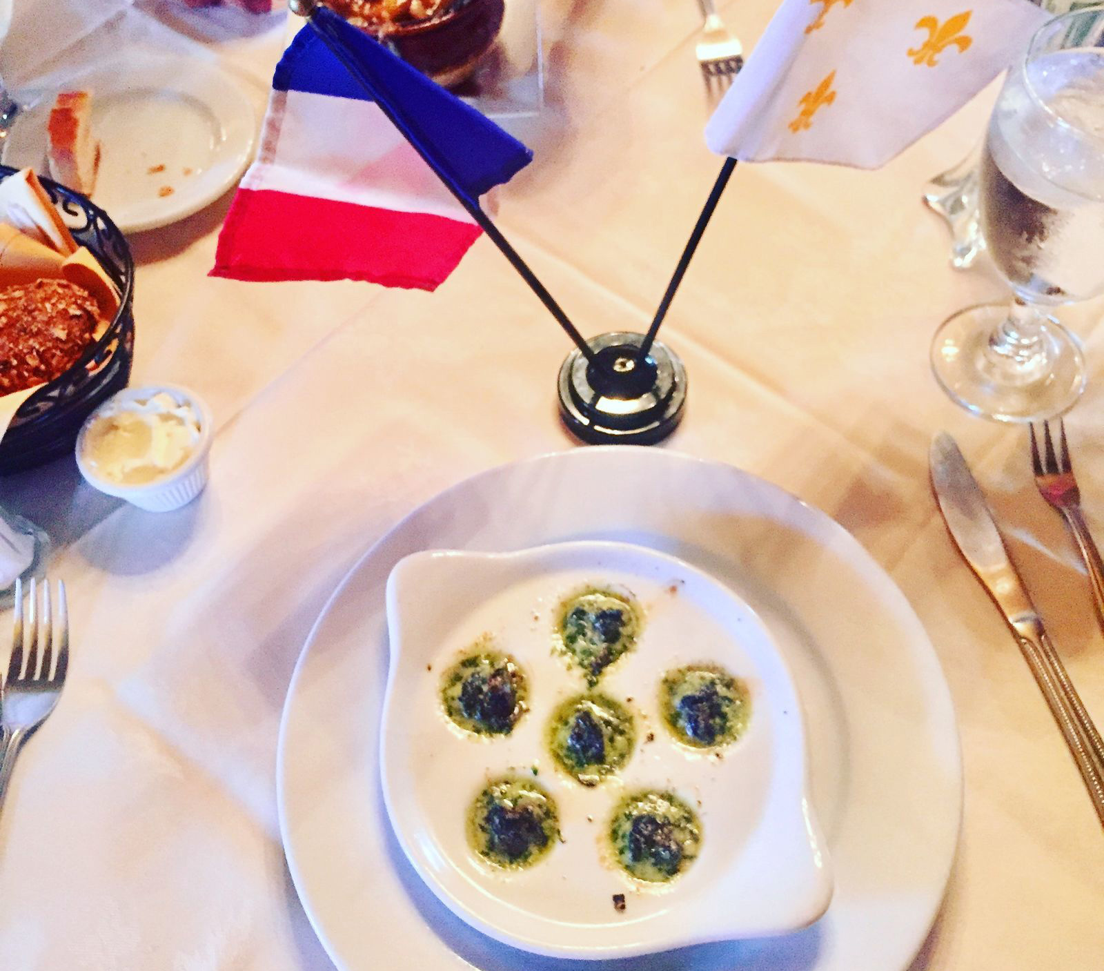 A classic rendition of escargots from A la Maison in Ardmore. (CRAIG LABAN / Staff)