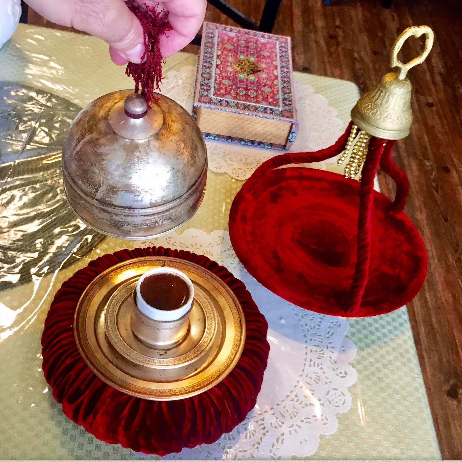 Turkish coffee is served with royal pomp at Star Manti in Delran. (CRAIG LABAN / Staff)