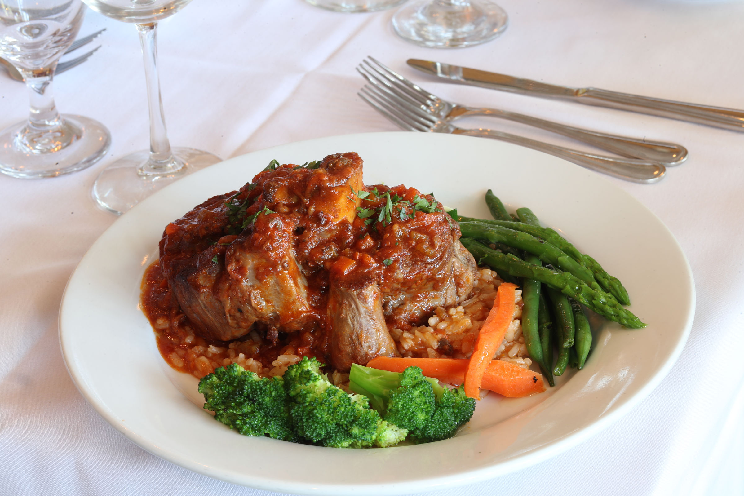 The osso bucco at Po Le.