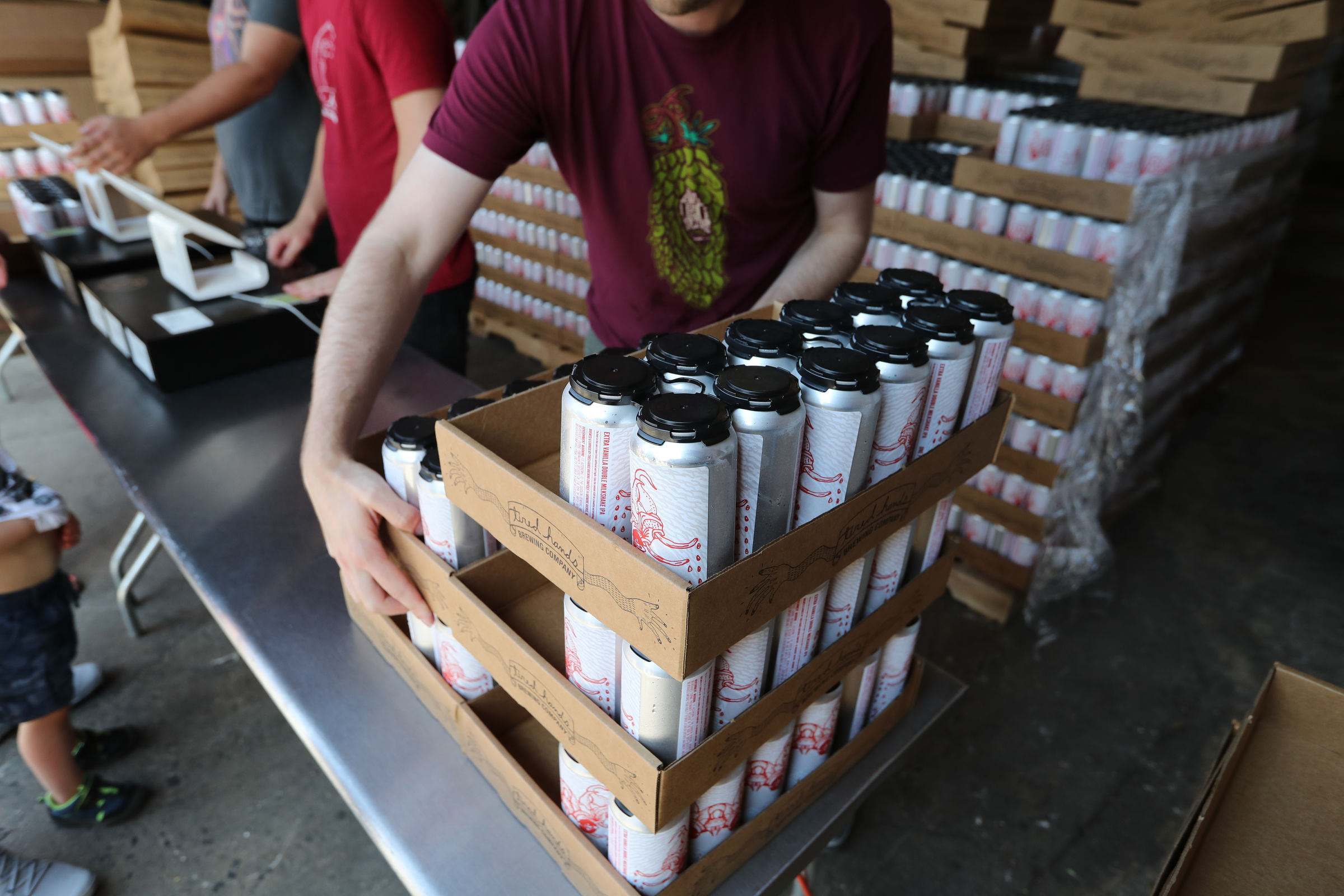 The release of the Extra Vanilla Double Milkshake IPAat Tired Hands Fermenteria in Ardmore.