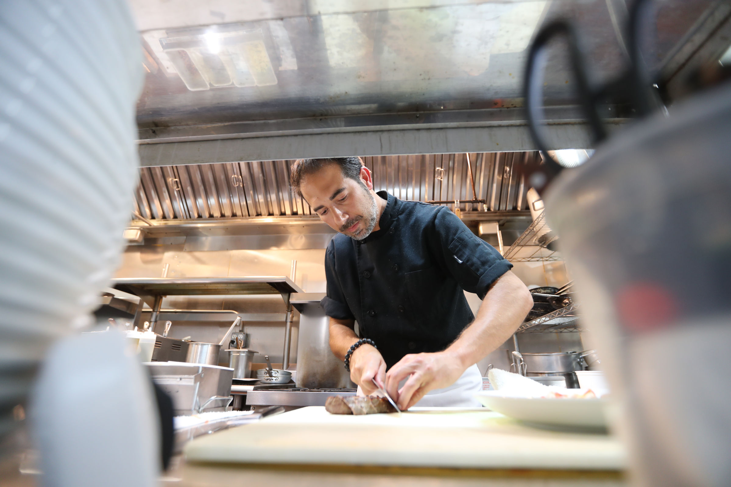 Owner-chef Gianluca Demontis at Fraschetta in Bryn Mawr.