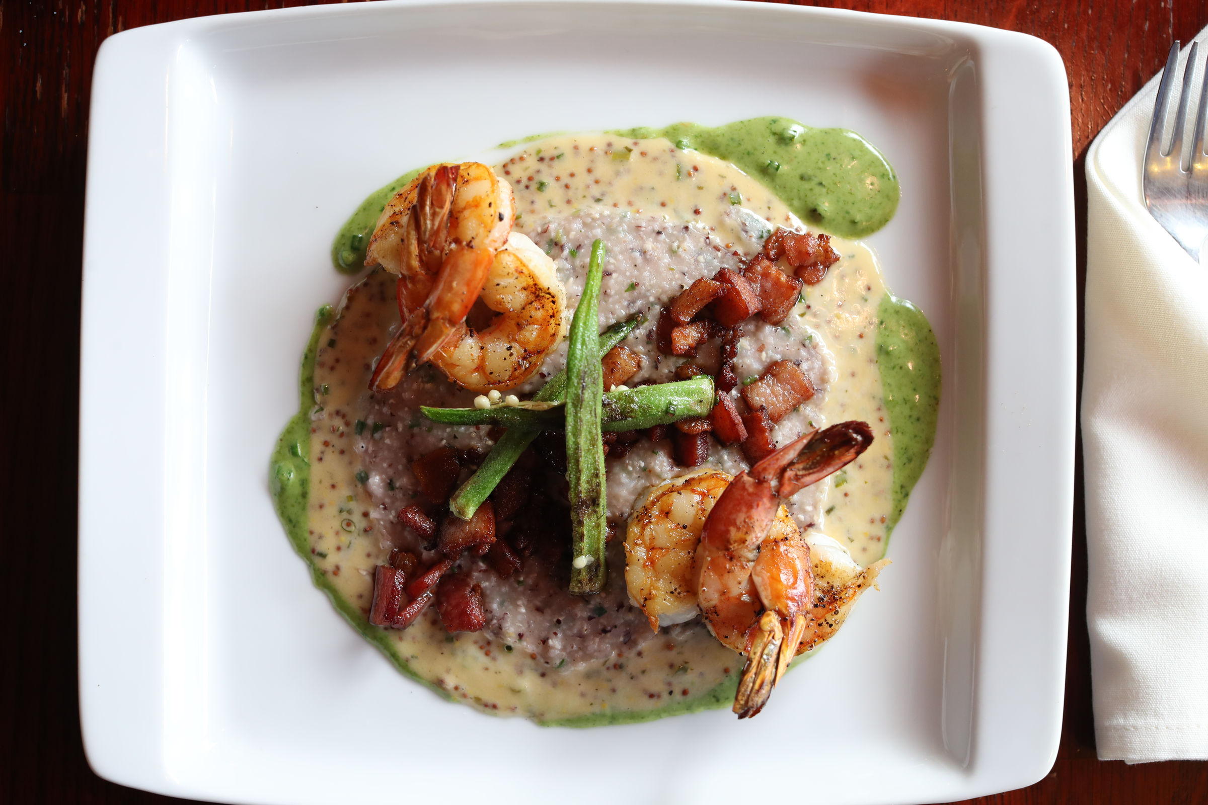 The shrimp and grits at Maize.