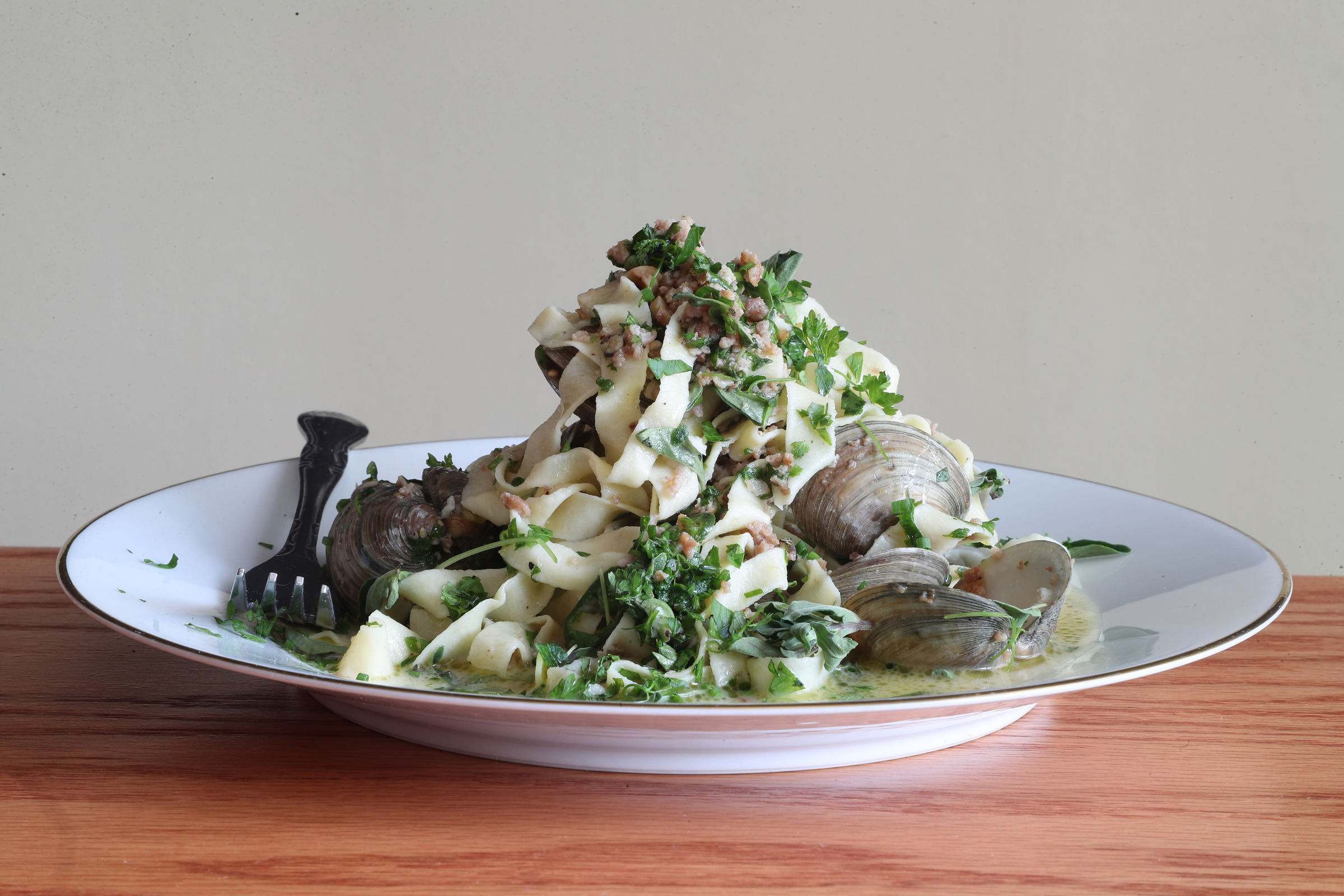 The Fettucinie Vongole at Park Place Café.