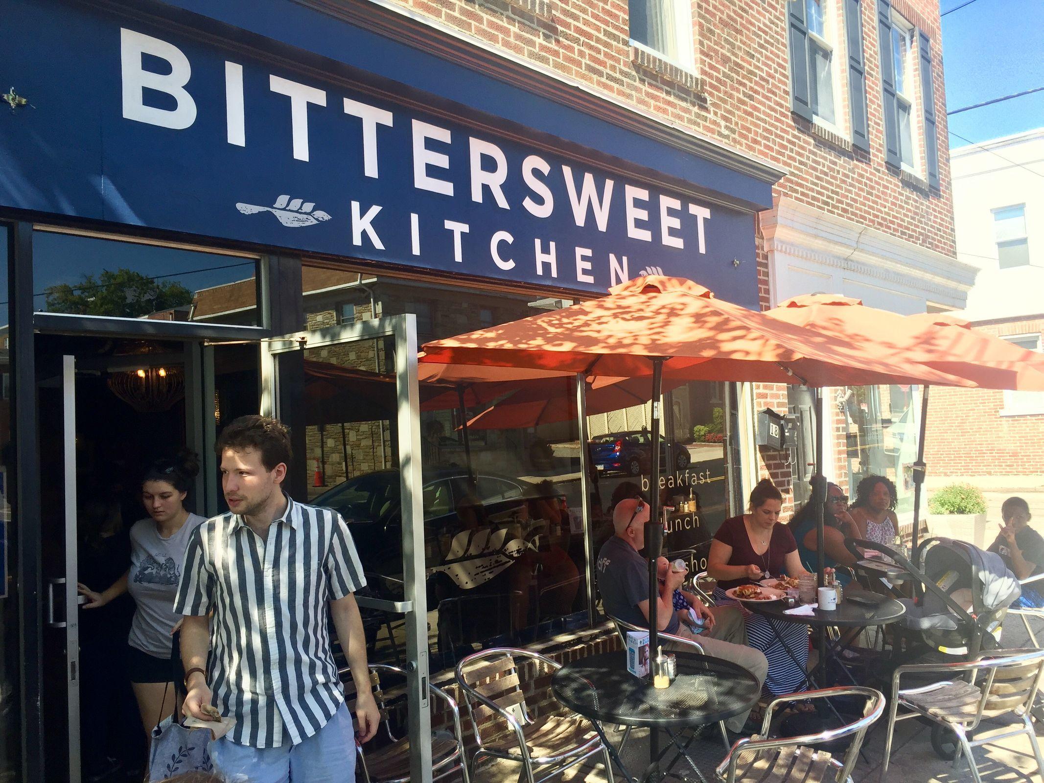 The exterior of Bittersweet Kitchen, a popular brunch destination in Media. (CRAIG LABAN / Staff)