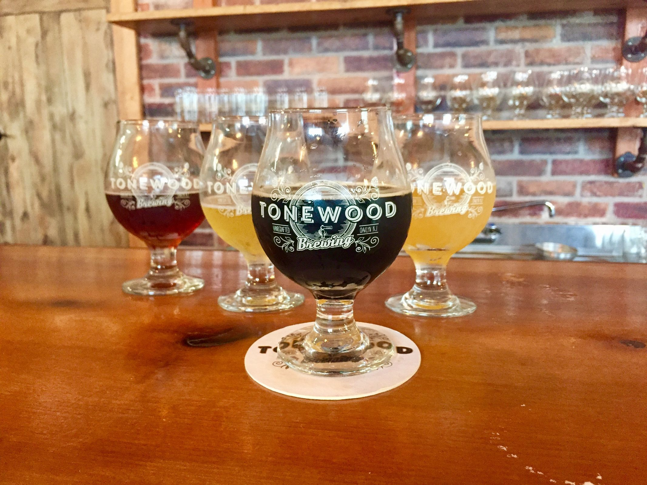 A selection of beers from Tonewood Brewing in Oaklyn, N.J. (CRAIG LABAN/Staff)