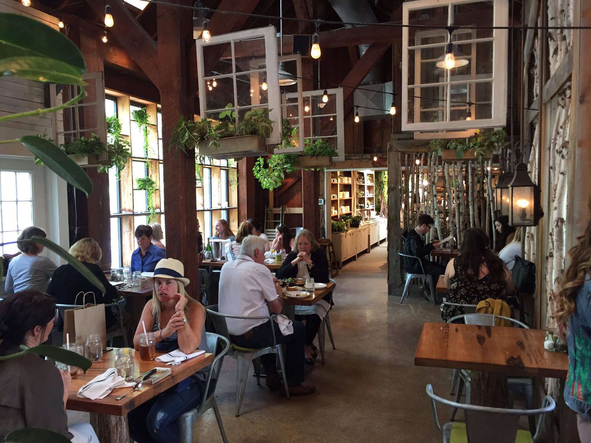 The garden center chic dining room at Terrain Garden Cafe in Glen Mills. (CRAIG LABAN/Staff)