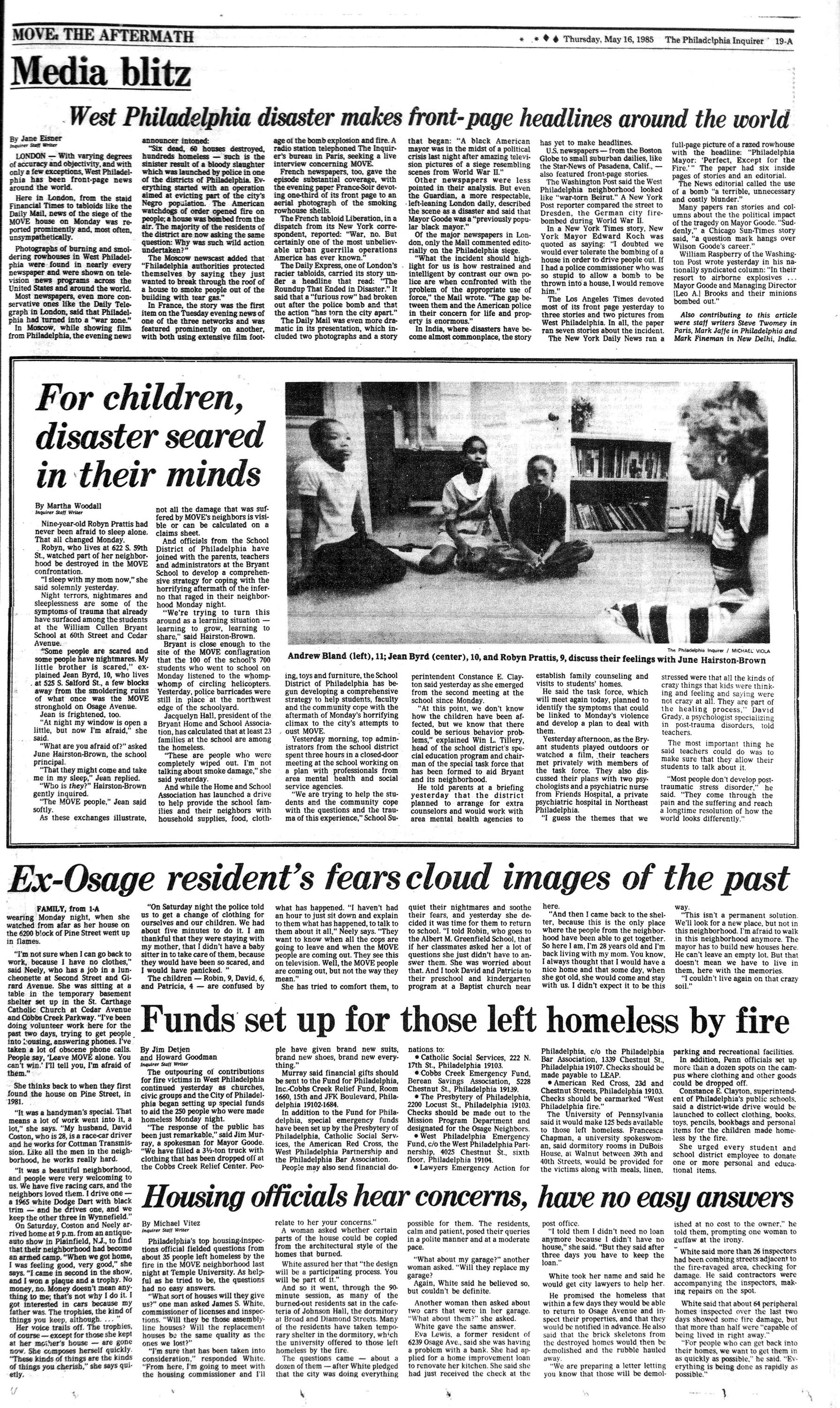The MOVE Crisis: Inquirer 5/16 coverage | Philly