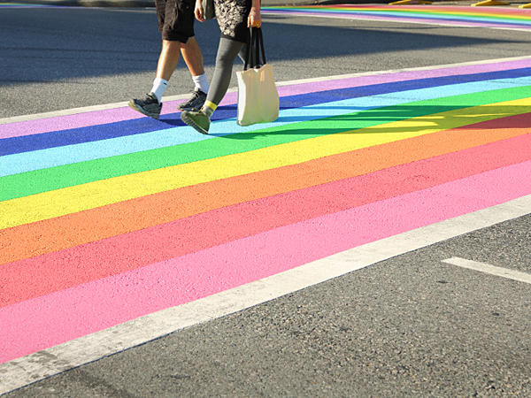 Philadelphia´s rainbow-colored crosswalks will most closely resemble Toronto's with horizontal stripes stretching from sidewalk to sidewalk. (iStock)
