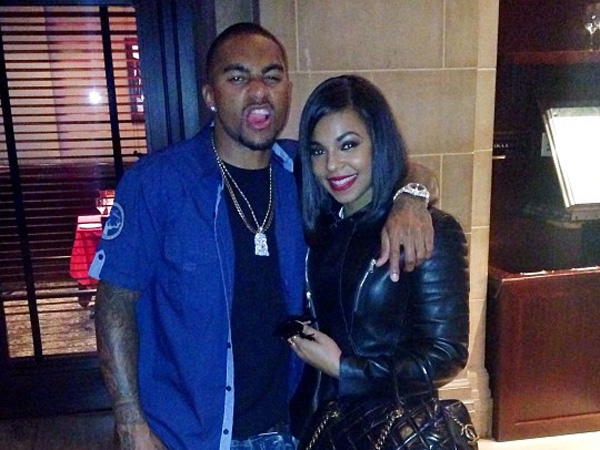 DeSean Jackson with singer Ashanti (Photo via Instagram).