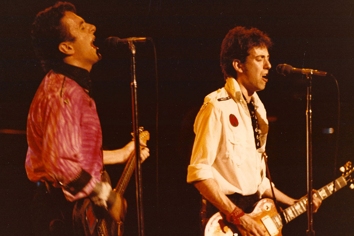 Joe Strummer and Mick Jones in 1979.