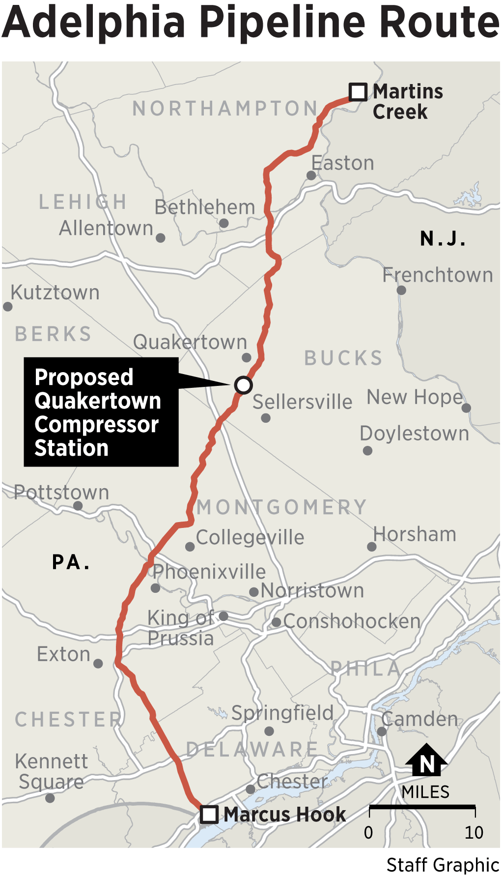 Delaware County pipeline study finds risk less than fatal car crash
